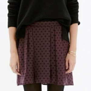 MADEWELL - burgundy polka dot skirt